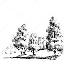 эскизы леса на руке эскиз леса красивый сад руки рисунок
