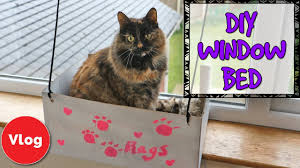 how to make a diy cat window bed fun and easy homemade craft idea make your cat more comfortable