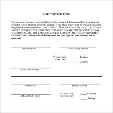 Direct Deposit Sheet Sample Direct Deposit Form 8 Download Free Documents In Pdf Word