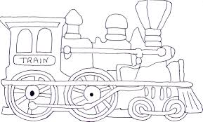 Color Trains To Color New On Minimalist Picture Coloring Page