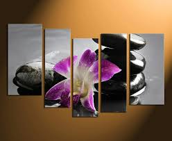 5 piece huge canvas art floral home decor flower canvas photography purple flower on canvas wall art purple flowers with 5 piece photo canvas purple flower multi panel art orchids canvas
