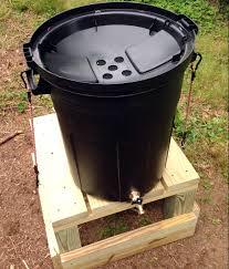 making a diy rain barrel from a trash can