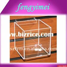 slatwall clear acrylic display box transpa plexiglass wall mounted display case acrylic hanging display