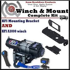 3000 winches zeppy io kfi 3000 lb winch combo for honda pioneer 1000 a3000 101285