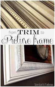 Making a picture frame Diy Build Your Own Custom Giant Picture Frame Using Layered Trim Pieces sawdust Embryos Pinterest How To Build Custom Frame Out Of Trim Pieces Crafts Diy Frame