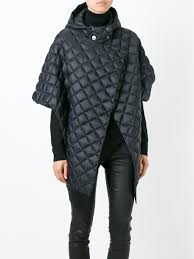 Balmain Quilted Padded Coat in Gray | Lyst & Gallery Adamdwight.com