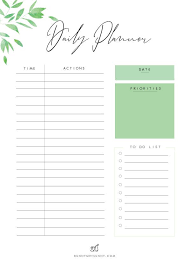 Daily Planner Printables Free Printable Planner Pages Leaves Theme 1 Bunny Met Sunny