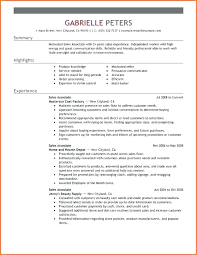 Sales Associate Resume Skills Good Resume Examples For Retail Jobs