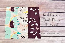 Quilt Block of the Month-The Rail Fence Quilt Block Tutorial ... & rail fence quilt block Adamdwight.com