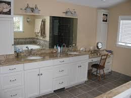 bathroom vanity granite backsplash. Interior. Cream Granite Countertops And Grey Tile Backsplash Connected By Beige Wall Theme. Wonderful Bathroom Vanity S