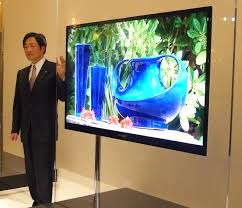 sharp 65 inch 4k tv. a prototype of 65 inch lcd tv whose thinnest part is 20mm its thickest sharp 4k