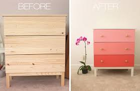 before and after of painted ikea tarva chest