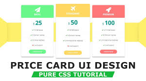 pricing table design with html5 css3 how to make pricing table pure css tutorials design css h50 design