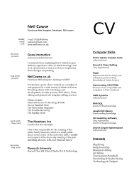 Curriculum Vitae Format Of Job Cv Really Good Cover Letter