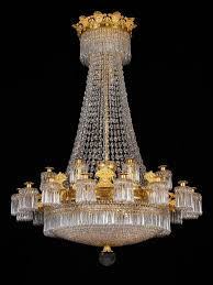 large empire 24 light chandelier attributed to claude galle