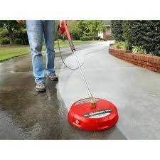 cleaning concrete patio with pressure washer in gas surface cleaner pressure washer power washing driveway patio