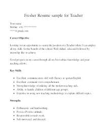 Mission Statement Resume Examples Teacher Resume Objectives Resume ...