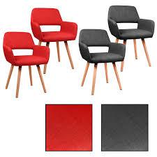 Estexo 2 4 6 8x Design Tammo Grau Rot Stuhl Esszimmerstühle 4
