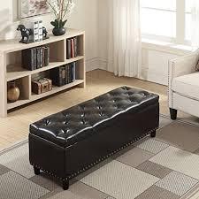 faux leather ottoman. Belleze 48\ Faux Leather Ottoman