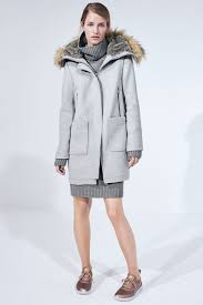 vince camuto wool blend duffle coat with faux fur trim hood