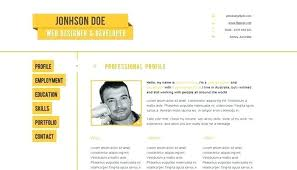 resume web templates cv website template cv template designs free download