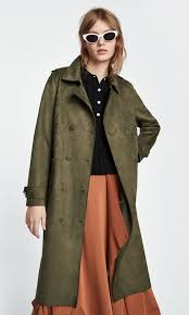 faux suede trench coat zara women s fashion clothes outerwear on carou