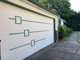 mid century modern garage door.  Mid The Big Issue With Painting It All Green Is Thereu0027s This Bendy Plastic Trim  That Seals The Door And Stuff Can Be Challenging To  Inside Mid Century Modern Garage Door R
