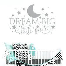 dream big little one wall decal dream big little one wall sticker decal nursery bedroom kids dream big little one wall