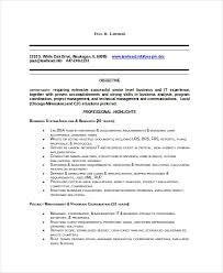 business systems analyst resume 8 business analyst resumes free sample example format free