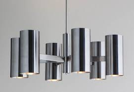 6026 barnes chandelier down light feature shown in brushed stainless steel finish