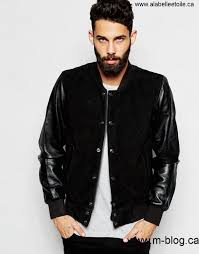 canada men black men schott decreased er jacket in suede leather sleeves qwrn70468 with adejkow258