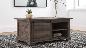 Aldwin coffee table can offer you many choices to save money thanks to 15 active results. The Aldwin Gray Cocktail Table With Storage Available At Royal Star Furniture Serving St Paul Mn
