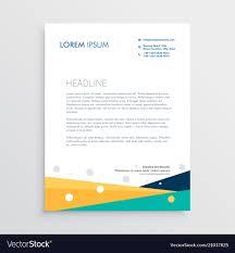 Modern Letterhead Design Templates Free Download Modern Geometric Letterhead Template Design