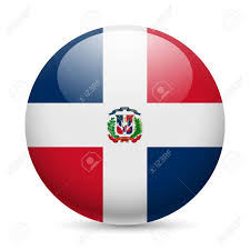 Dominican Flag Design Flag Of Dominican Republic As Round Glossy Icon Button With