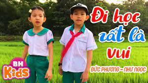 Đi Học Rất Là Vui ♫ Bé Đức Phương ft Như Ngọc ♫ Nhạc Thiếu Nhi Vui Nhộn -  YouTube