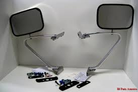 Stainless Steel Ford Style Mirror - Use on Scout, Scout II, Pickup ...