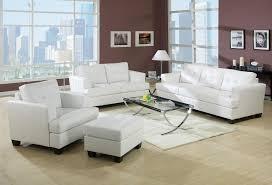 White Leather Living Room Set Leather Living Room Set 15095 Acme Furniture Platinum