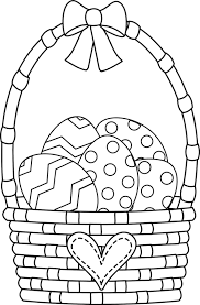 easter egg basket coloring page greatest coloring book