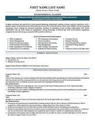 Environmental Planner Resume