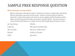 writing for the ap literature and composition exam ppt video  sample response question