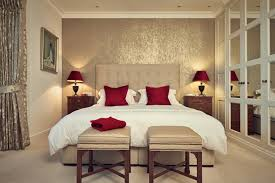 Amazing Red Bedroom Bench And Cream Tufted Platform Bed White Bedding Set Accent  Trends