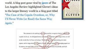 how to write a novel douglas glover num atilde copy ro cinq attack of the copula spiders