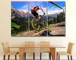 mountain bike wall art mountain bike wall decor mountain bike canvas mountain bike print cyclotourism wall art cyclotourism wall decor on downhill mountain bike wall art with mountain bike art etsy