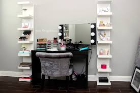 black bedroom vanity table lovely small black makeup vanity table set with ideas lighted mirror