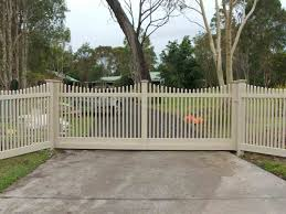 picket fence double gate. White Picket Fence Double Gate