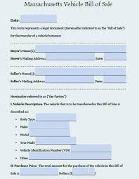 Free Business Bill Of Sale Template Car Purchase – Inspiredworks