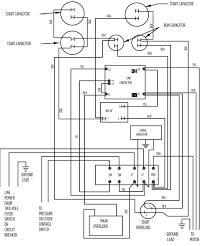 aim manual page 57 single phase motors and controls motor 220 Single Phase Wiring 10 hp deluxe 282 202 9230 or 282 202 9330 220 single phase wiring diagram