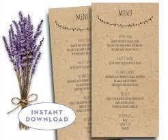 kraft paper menu printable wedding menu template kraft menu template 4 x 8 editable text word menu card template rustic menu template capistrano