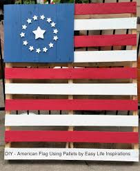 a tutorial on how to make four styles of american flag using wood pallets by easy