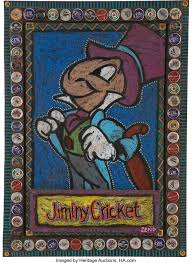 Bob Zeno Outsider Style Jiminy Cricket Painting Original Art | Lot ...